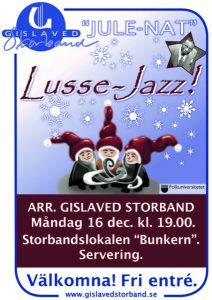 Lussejazz @ Jazzbunkern | Gislaved | Jönköpings län | Sverige